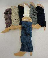 Knitted Leg Warmers [PomPoms]